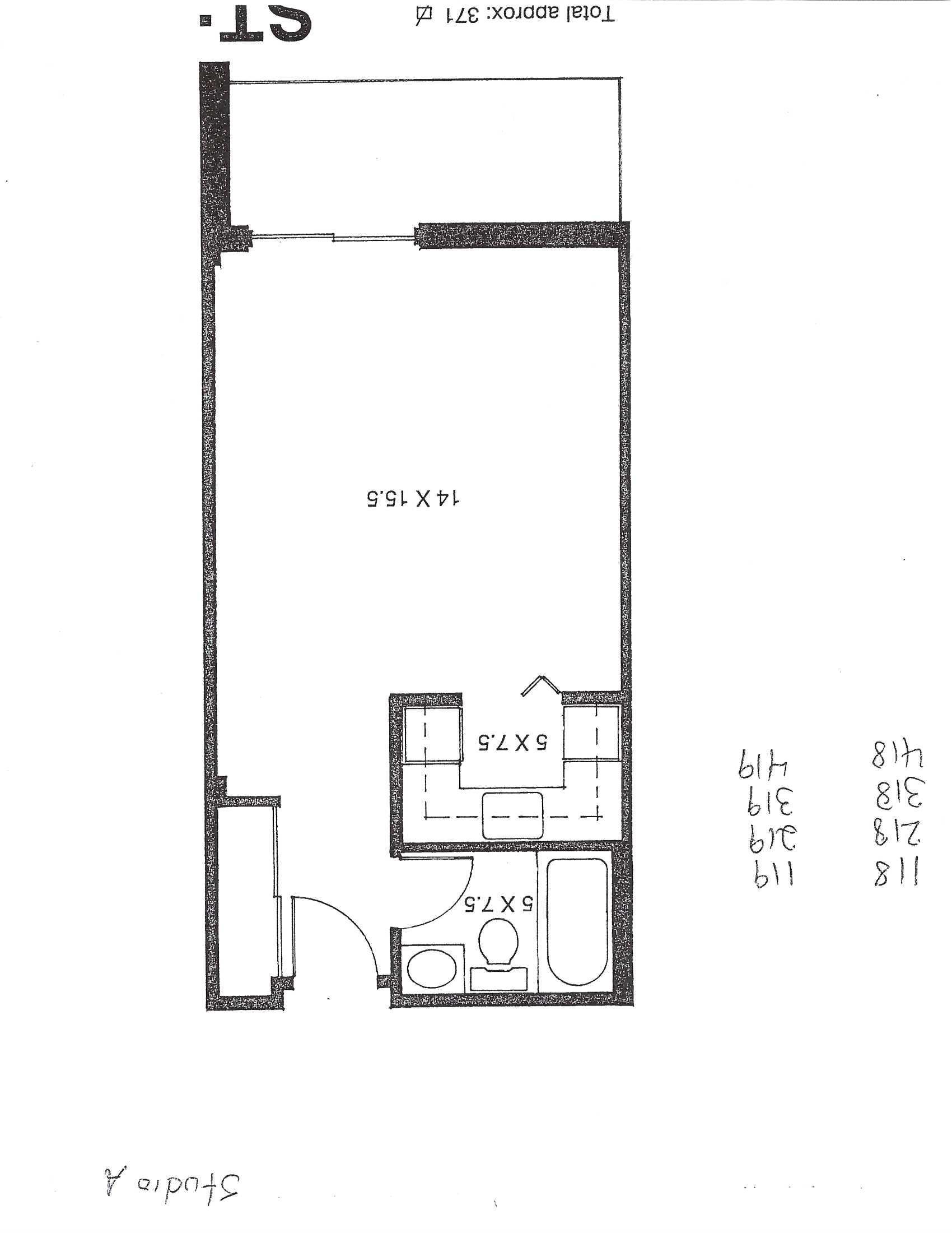 Appartement Studio / Bachelor a louer à Pointe-aux-Trembles a Habitations de la Rousseliere - Plan 01 - TrouveUnAppart – L1920