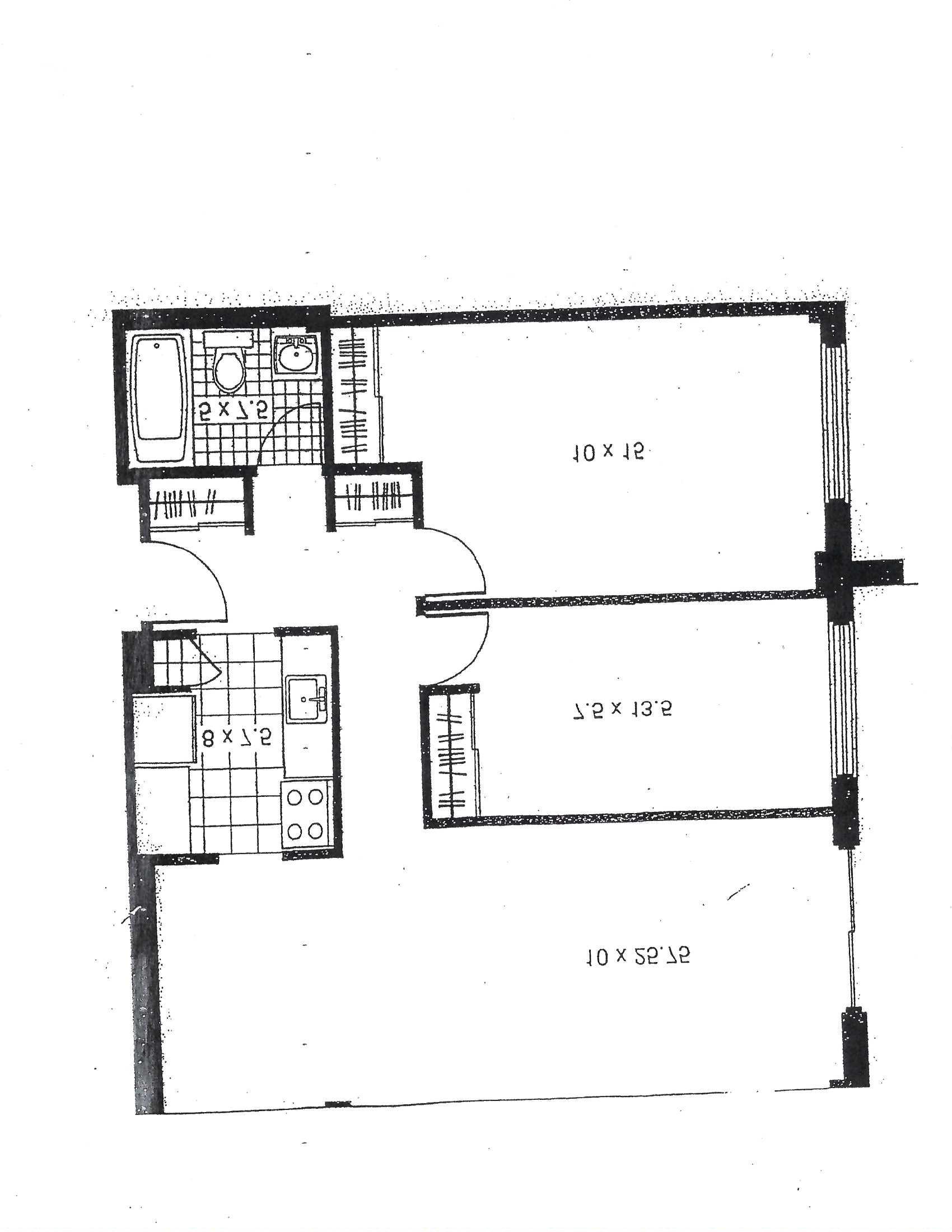 Appartement 2 Chambres a louer à Pointe-aux-Trembles a Habitations de la Rousseliere - Plan 01 - TrouveUnAppart – L1922