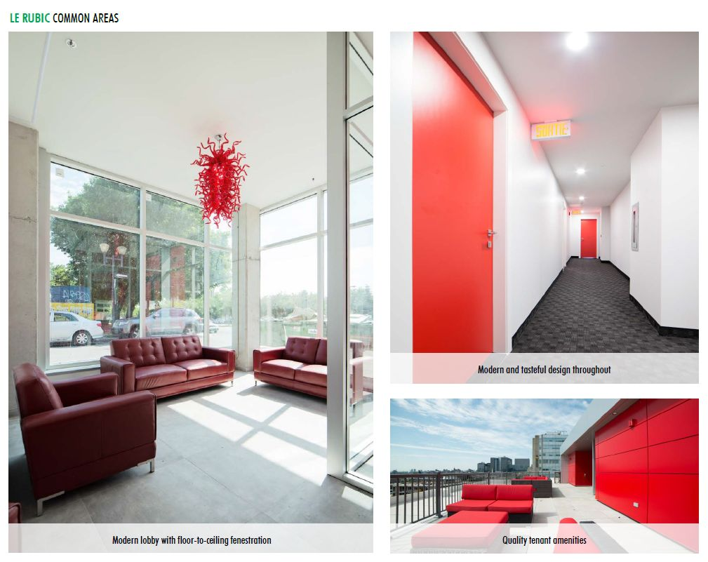 Appartement 2 Chambres de luxe a louer à Montréal (Centre-Ville) a Le Rubic - Photo 03 - TrouveUnAppart – L198458