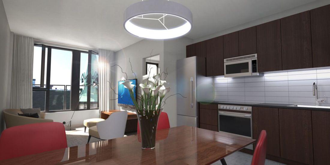 Condo 2 Chambres de luxe a louer à Montréal (Centre-Ville) a 1255 de Bullion - Photo 04 - TrouveUnAppart – L119809