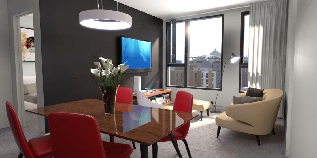 Condo 2 Chambres de luxe a louer à Montréal (Centre-Ville) a 1255 de Bullion - Photo 12 - TrouveUnAppart – L119809