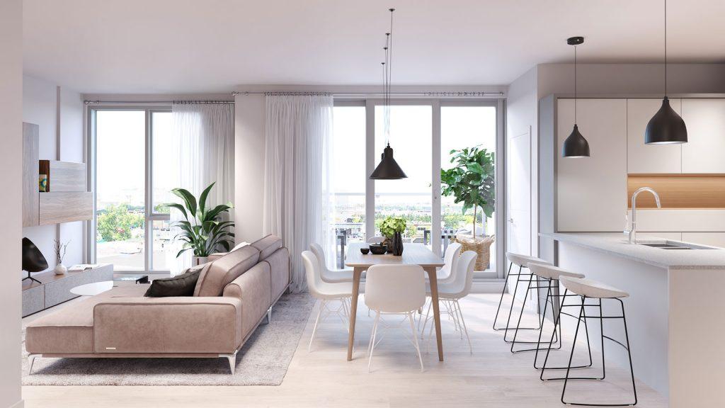 Condo 2 Chambres de luxe a louer à Ahuntsic-Cartierville a Voltige - Photo 06 - TrouveUnAppart – L351246