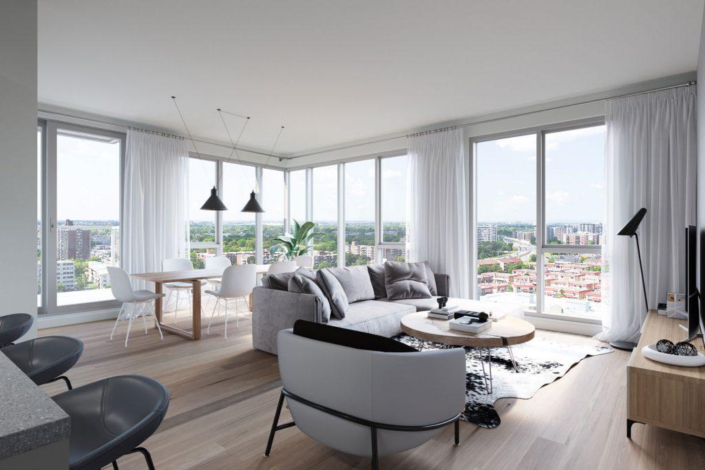 Condo 2 Chambres de luxe a louer à Ahuntsic-Cartierville a Voltige - Photo 04 - TrouveUnAppart – L351246