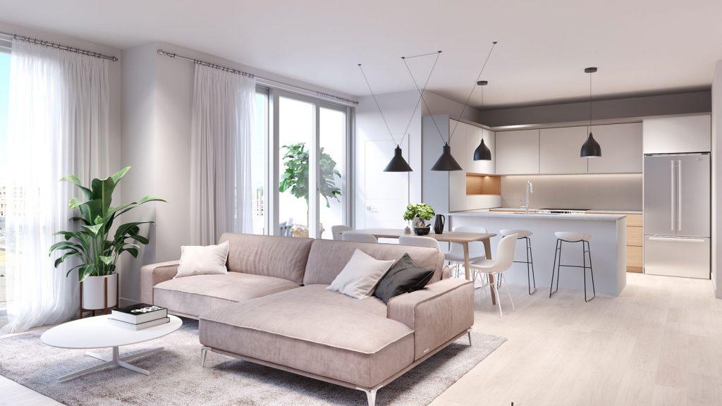 Condo 2 Chambres de luxe a louer à Ahuntsic-Cartierville a Voltige - Photo 03 - TrouveUnAppart – L351246