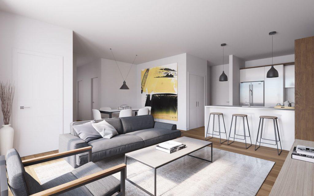 Condo 2 Chambres de luxe a louer à Ahuntsic-Cartierville a Voltige - Photo 02 - TrouveUnAppart – L302637