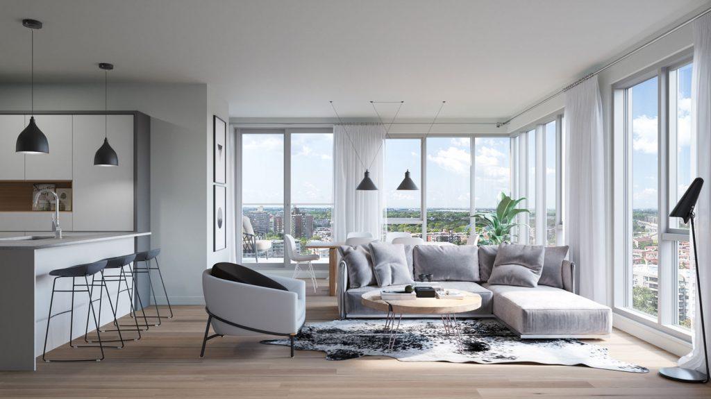 Condo 2 Chambres de luxe a louer à Ahuntsic-Cartierville a Voltige - Photo 04 - TrouveUnAppart – L302637